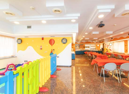 Children's area in the restaurant