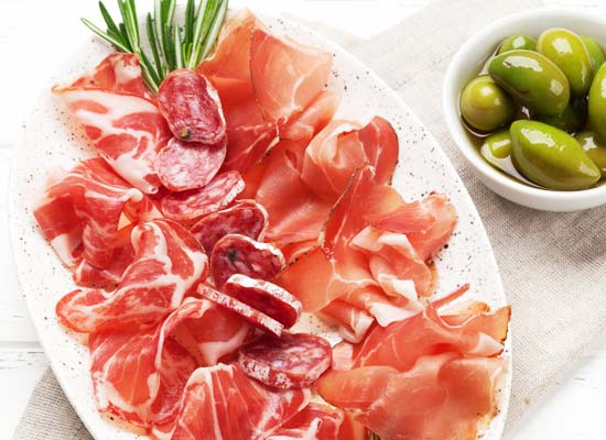 Various cold cuts platter